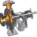 2) Die NKX im Schnitt mit dem zum Patent angemeldeten integrierten Kühl- und Entgasungssytem