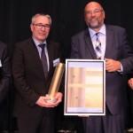 Hans Thon (IHK), Dr. Thomas Weisener, Harry Glawe und Norbert Bosse (Quelle: Ministerium für Wirtschaft, Bau und Tourismus Mecklenburg-Vorpommern)