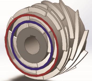 Abb. 1 Das neuartige Poly-Reihenlaufrad